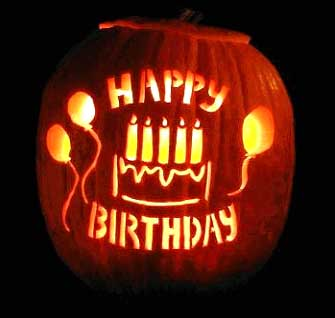 Happy Birthday Jack o Lantern